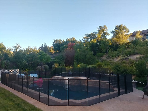 pool fence installed