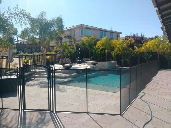 Life Saver Pool Fence installed in Brentwood, CA