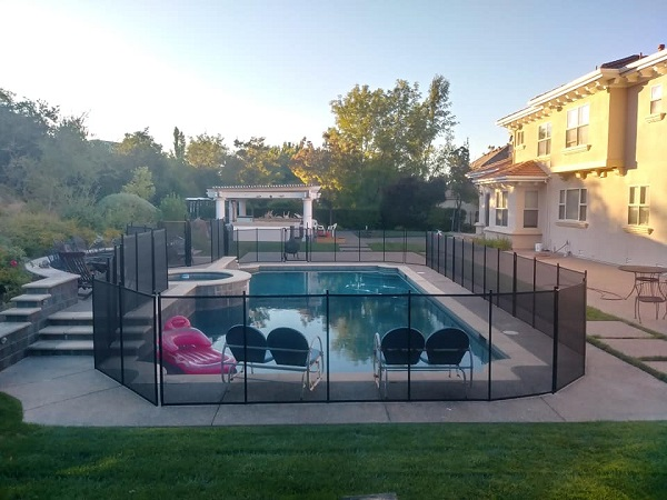 mesh pool fence installation in Mountain House, CA