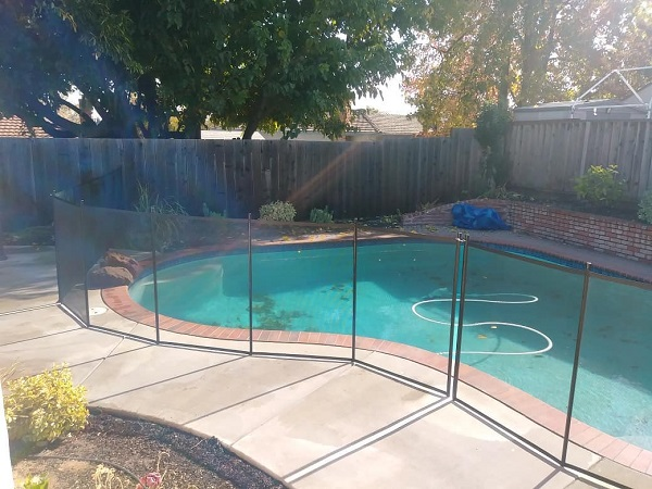 child pool safety fence installed in Martinez, CA