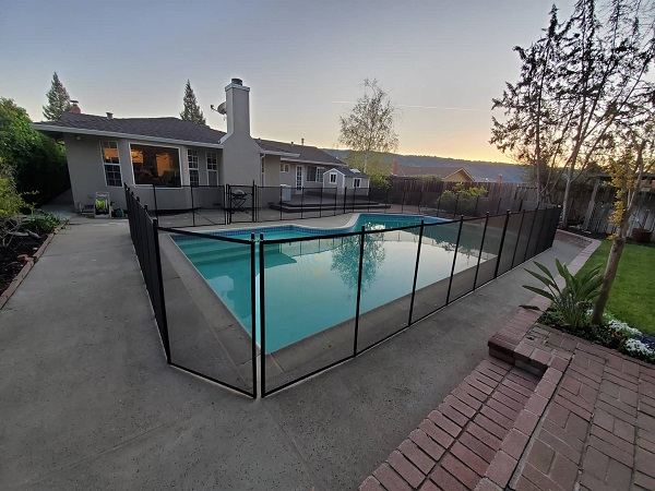 Life Saver Pool Fence installed Pleasanton, CA
