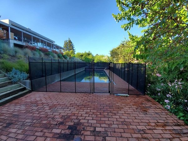Life Saver mesh pool fence installed in Kentfield, CA