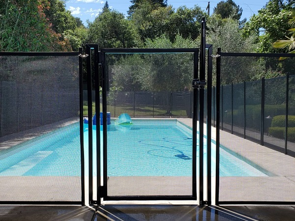 self-closing, self-locking pool gate installed in Atwater, CA
