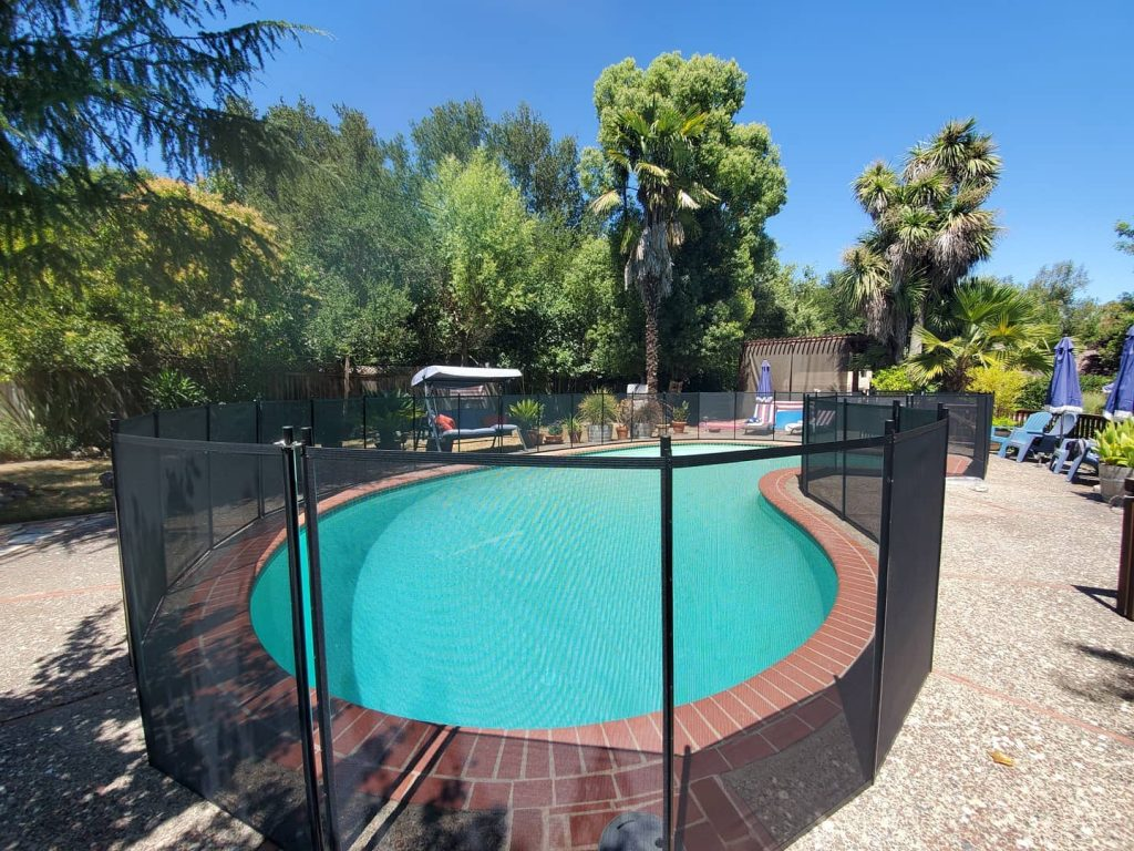Life Saver black mesh pool fence installed in Sonoma, CA