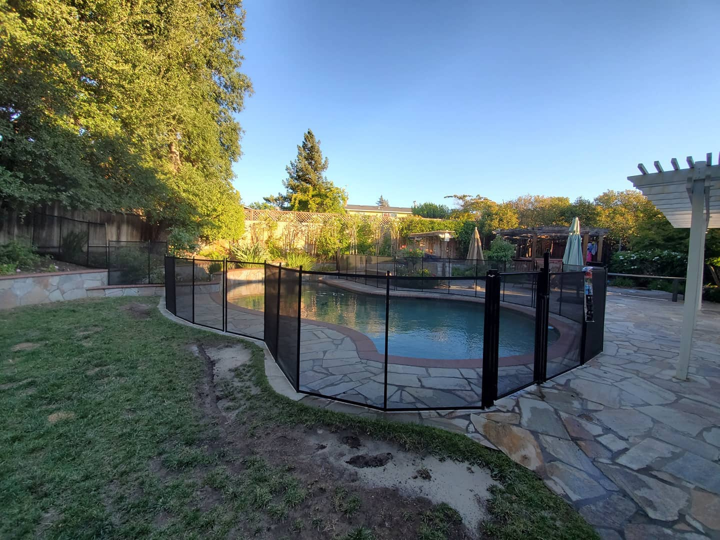removable child safety mesh pool fence Walnut Creek
