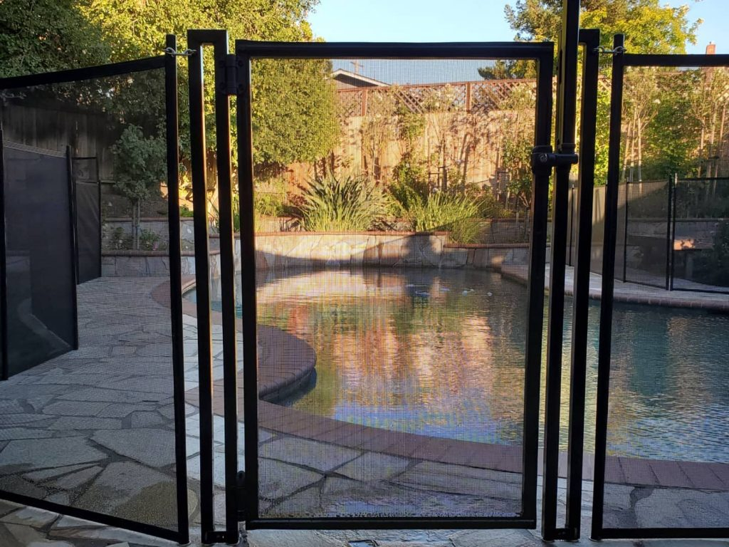 self-closing and self-locking pool gate installed in Walnut Creek, CA