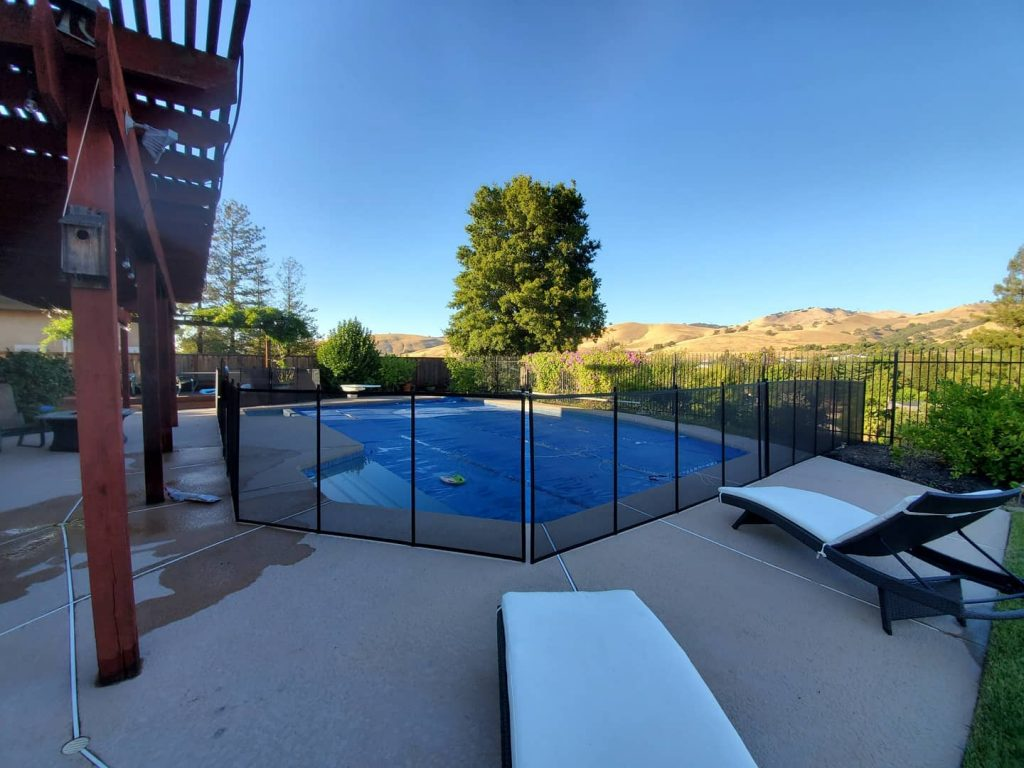 black mesh pool fence installed in Clayton, CA