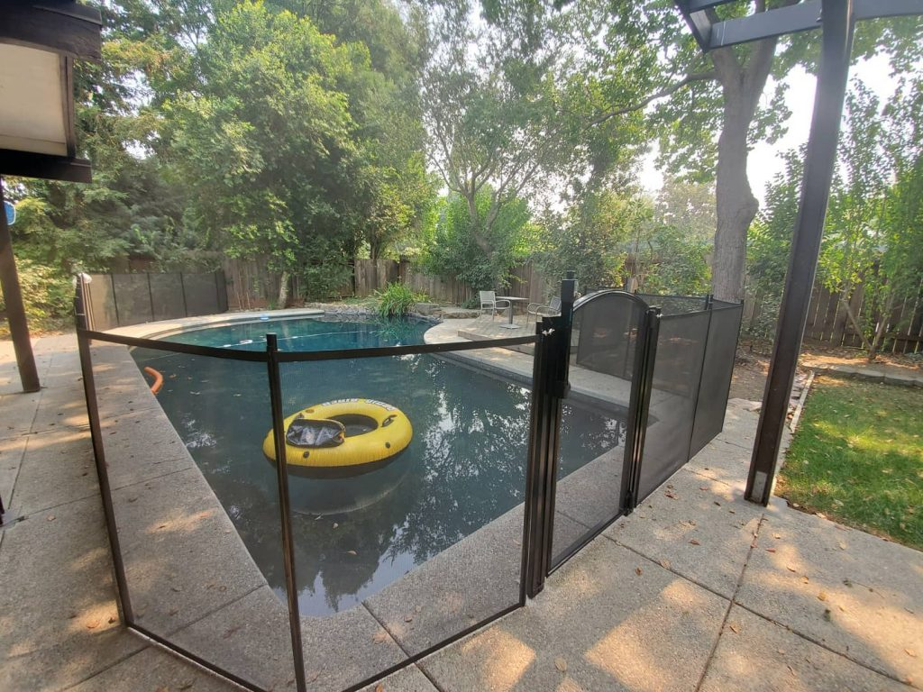 child pool safety fence installed in Davis, CA by Life Saver Pool Fence