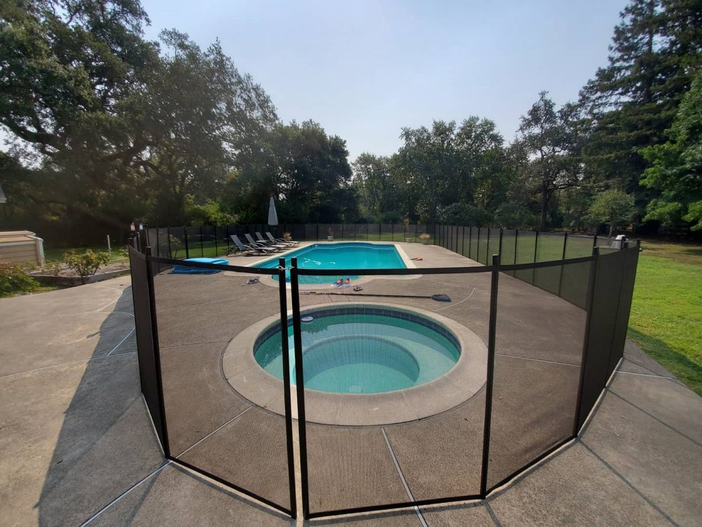 kids pool safety fence installed in Sonoma, CA by Life Saver Pool Fence