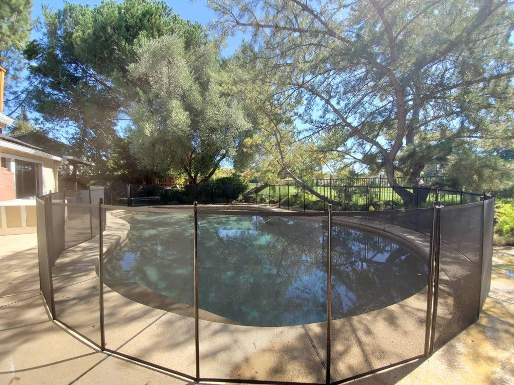 Life Saver mesh pool fencing brown San Ramon, CA