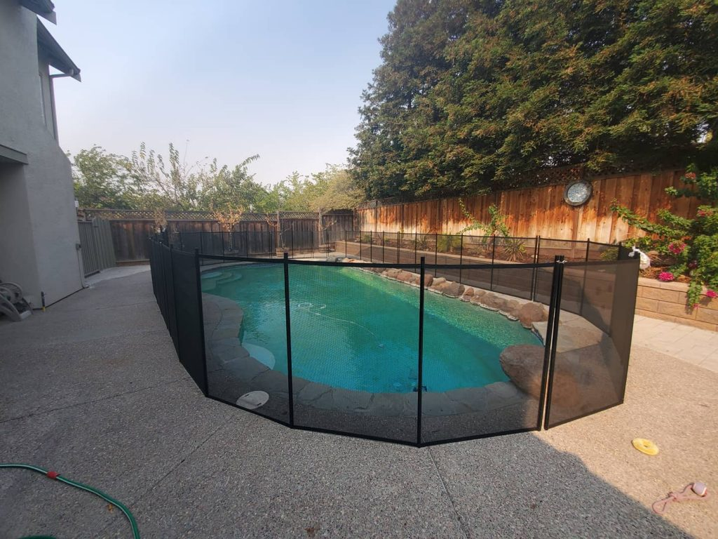 Life Saver pool fence - black mesh fence Livermore, CA