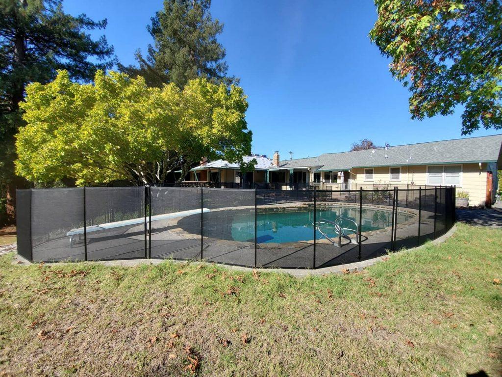 inground pool fence installed near Santa Rosa, CA