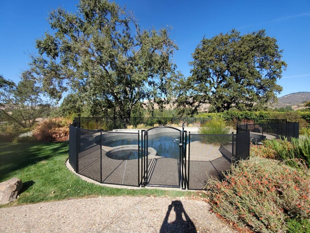 Life Saver Pool Fence installed in Alamo, CA