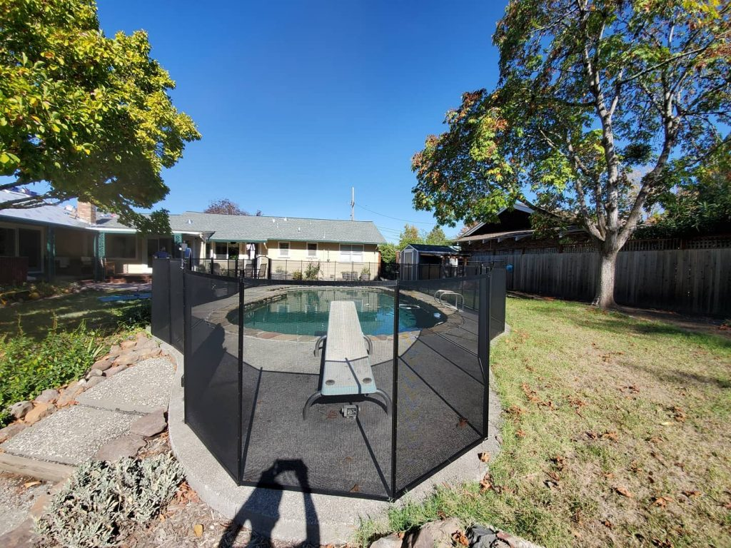 Life Saver removable mesh pool fence installed in Santa Rosa, CA
