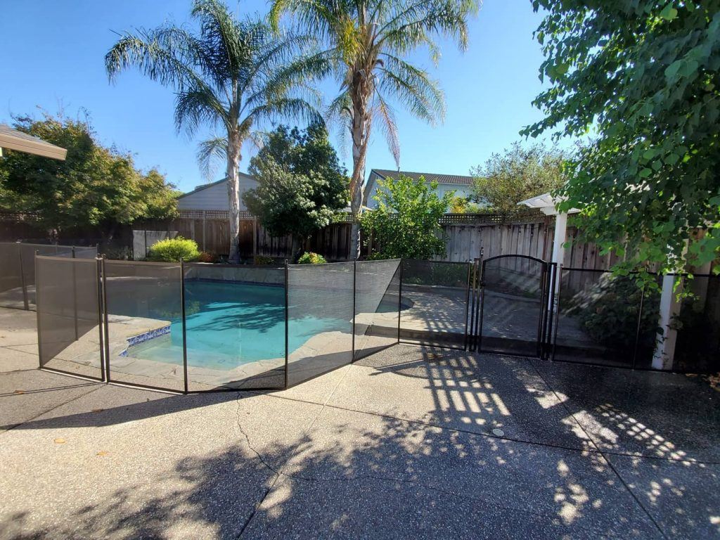 pool fence for kids safety installed in Pleasanton, CA
