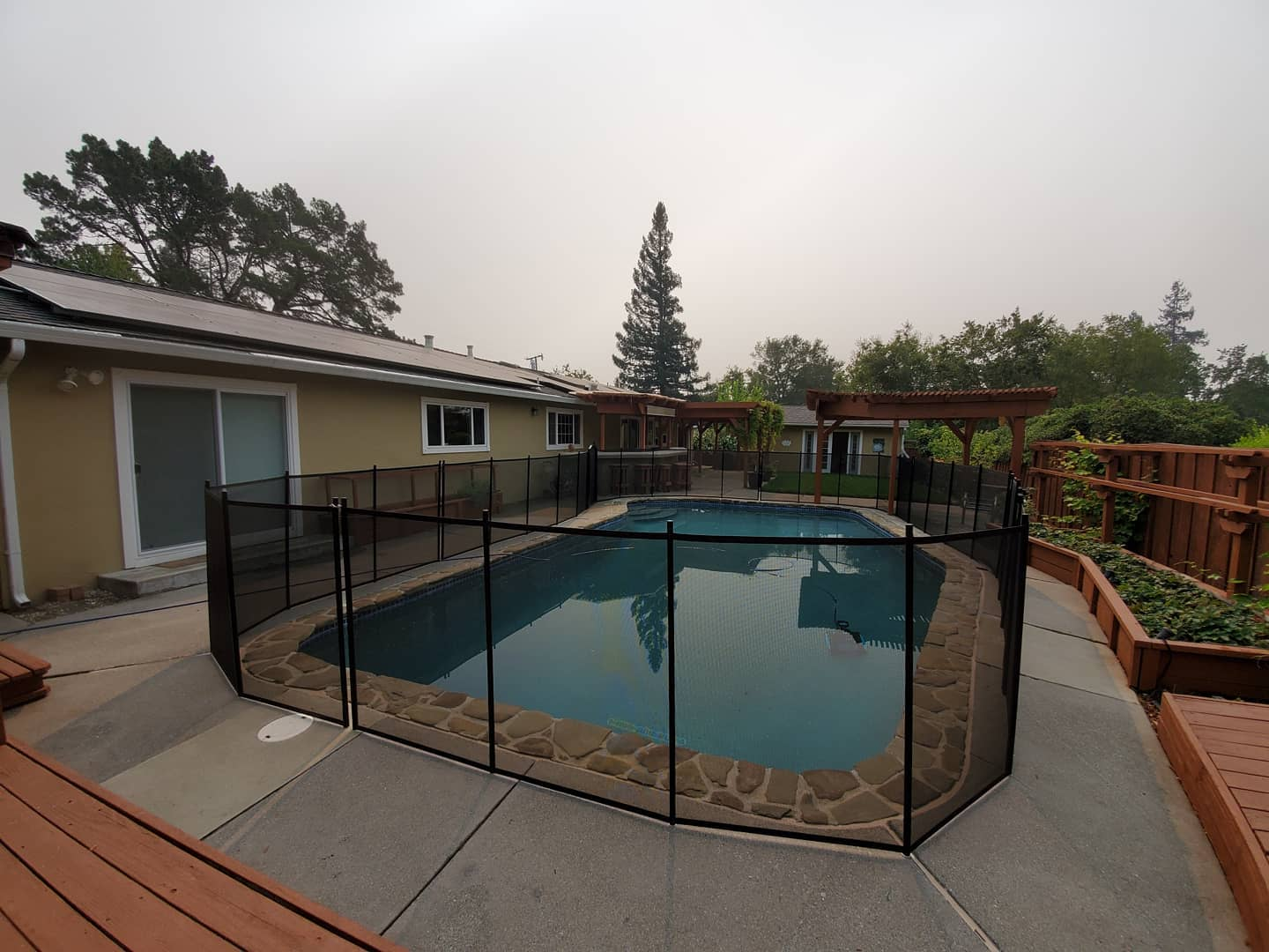 Life Saver mesh pool fence installed in Modesto, CA