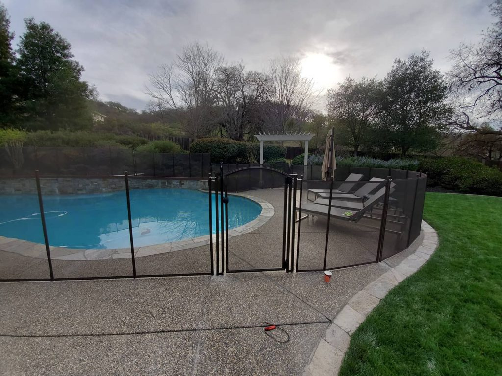 child safety pool fence installed in Walnut Creek, CA