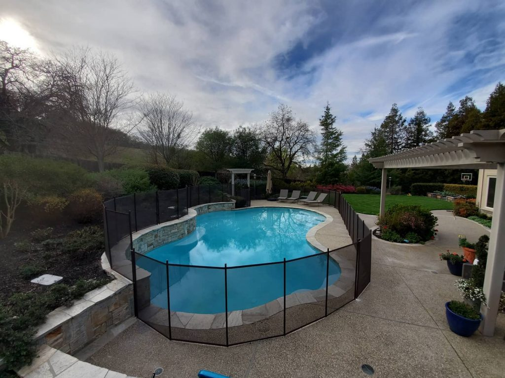 inground pool fence installed in Walnut Creek, CA