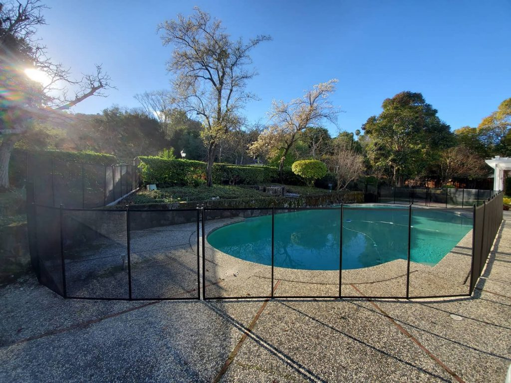 pool safety fence installed in Castlewood, CA