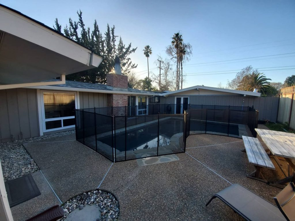 pool fence installed in Novato, CA