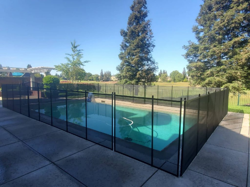 Life Saver removable mesh pool fence installed in Stockton, CA