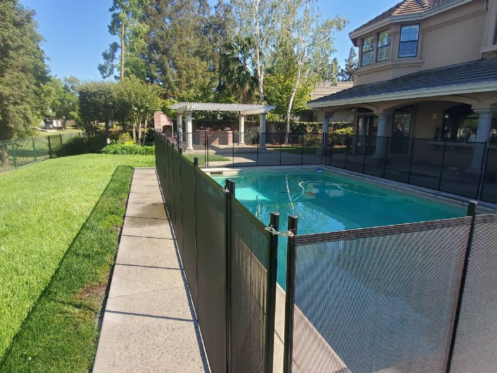 pool safety fence installed in Stockton, CA