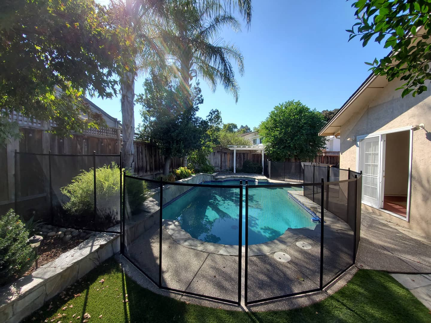 child safety pool fence installed in Stockton, CA