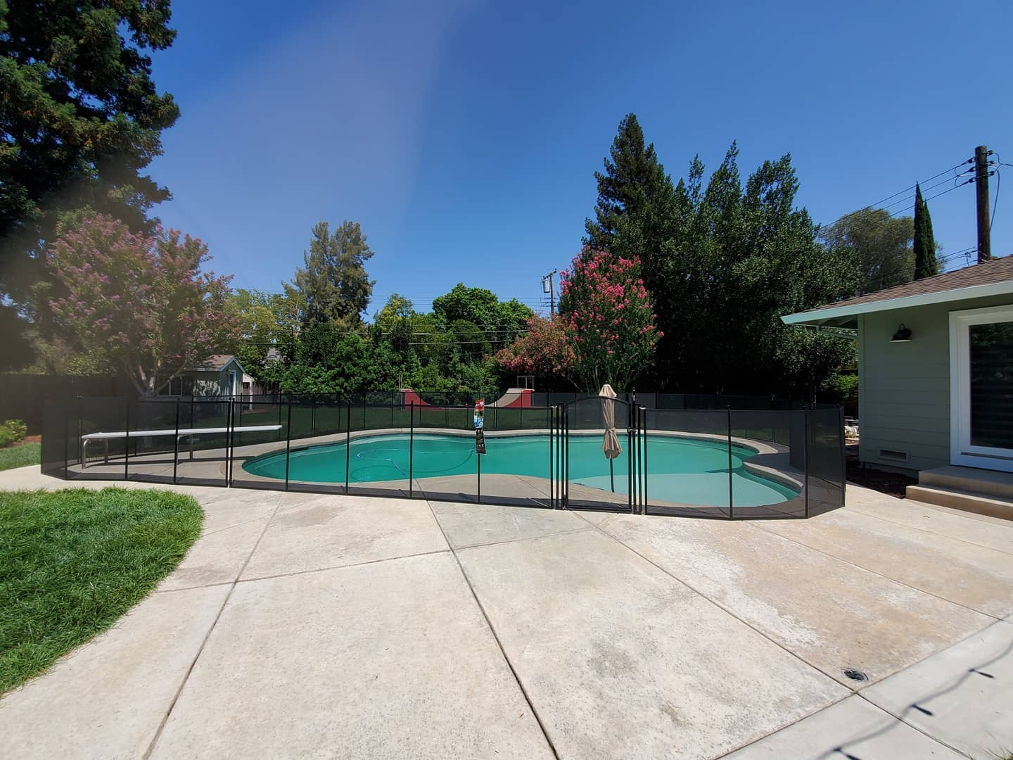 mesh pool fence installed in Stockton, CA